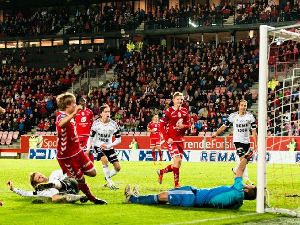 YOUNG MATCHWINNER: Bård Finne scored twice against Rosenborg.
