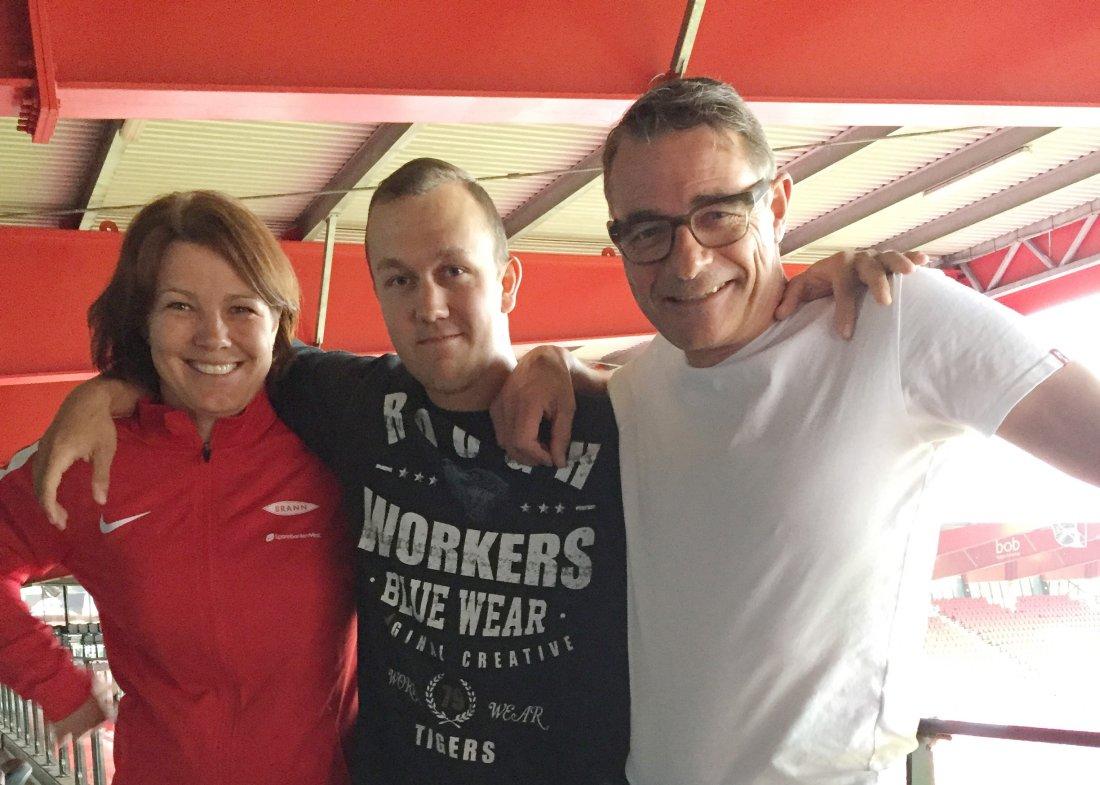 I JOBB: Davy Chrisopher Berg har fått spennende oppgaver og god hjelp etter å ha gått igjennom Brannsjansen-programmet.