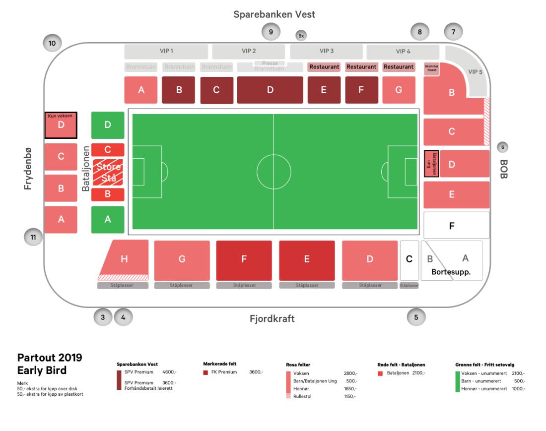 KArt nye Brann Stadion 2019