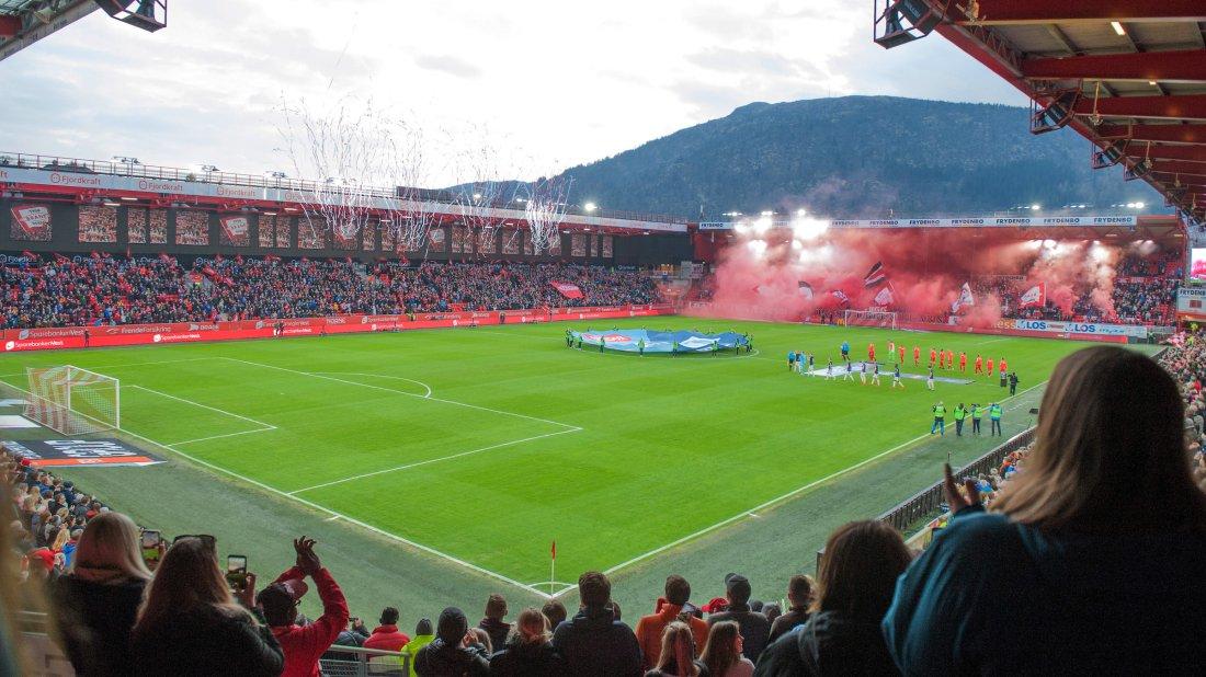 Brann - Strømsgodset 2019 Fjordkraft ny tribune supportere